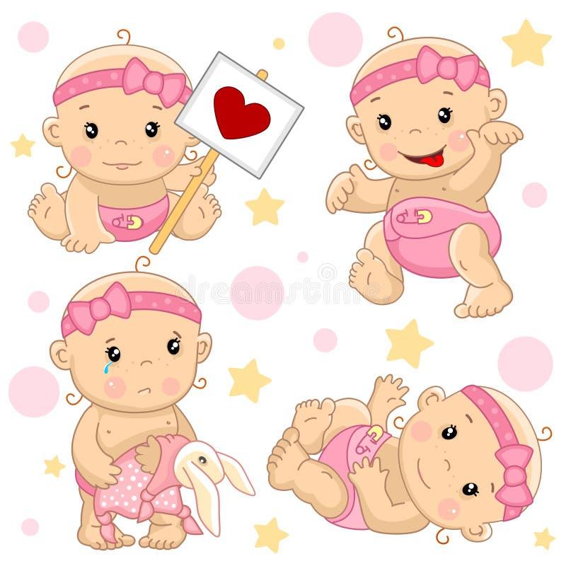 Bebé 2 porciones libre illustration