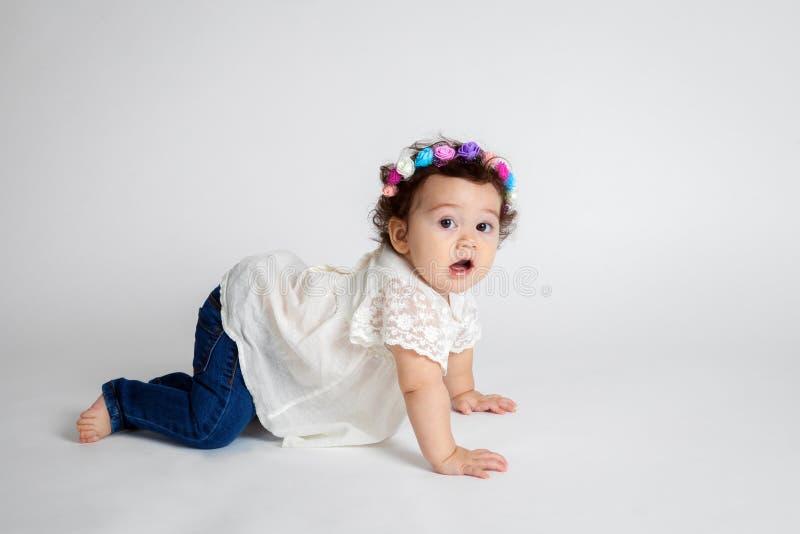 Bebé que pregunta fotos de archivo