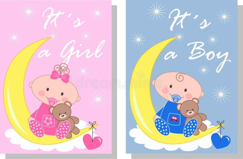 Bebé recién nacido stock de ilustración