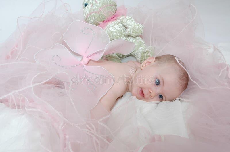 Bebé soñoliento 2 del ángel fotografía de archivo