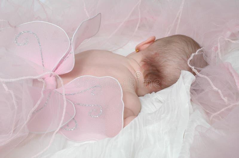 Bebé soñoliento 3 del ángel imagenes de archivo