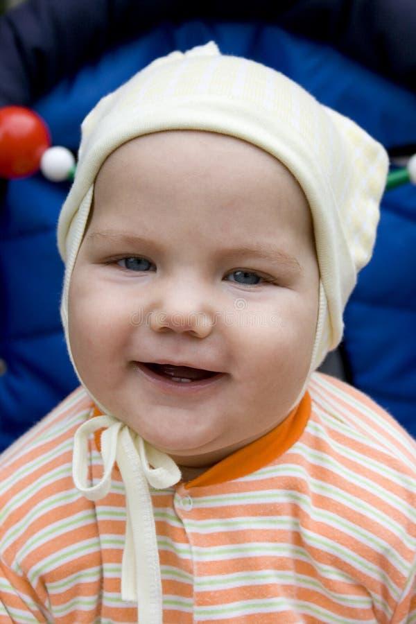 Bebé sonriente fotos de archivo