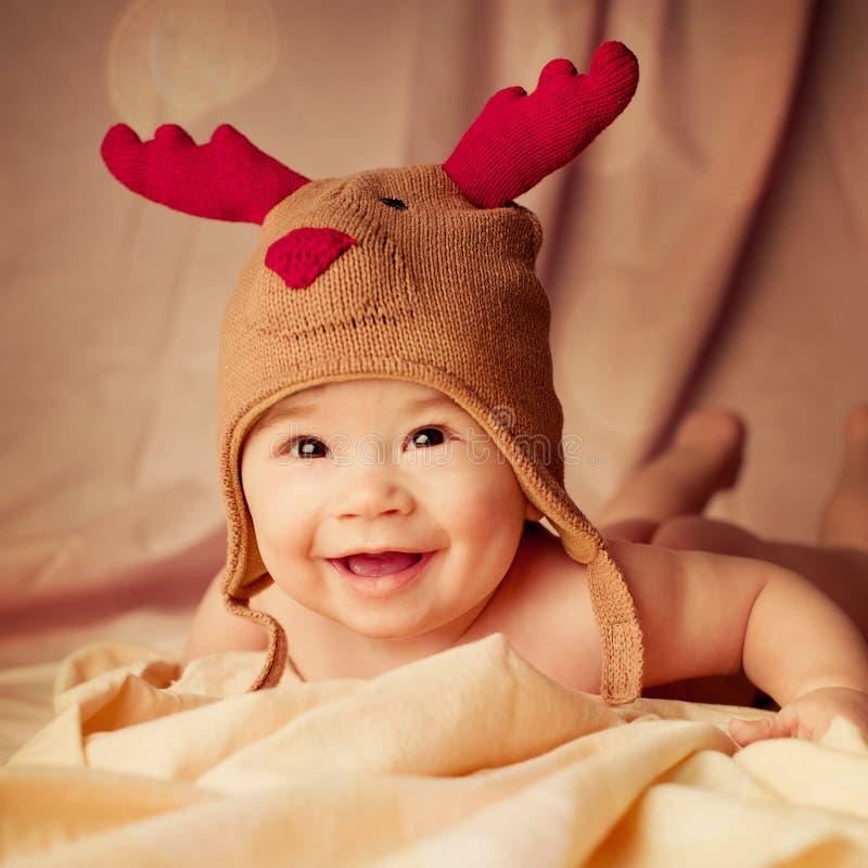 Bebé sonriente feliz foto de archivo