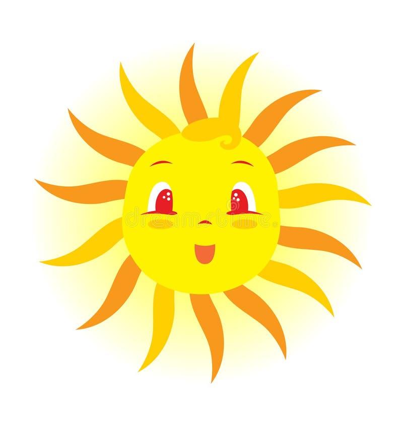Bebé Sun stock de ilustración