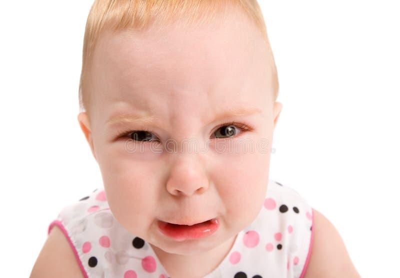 Bebé trastornado fotos de archivo libres de regalías