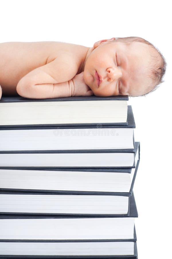 Bebé y libros foto de archivo libre de regalías