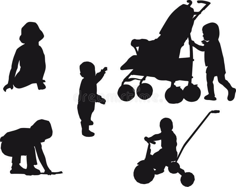 Bebés stock de ilustración