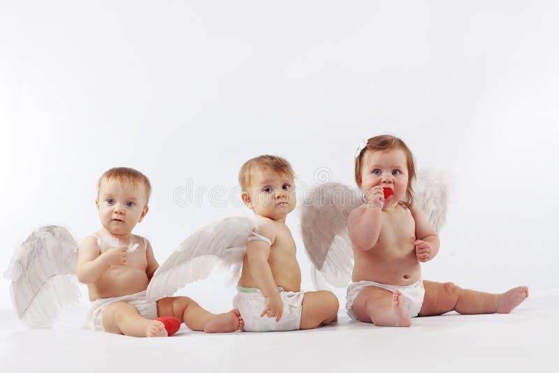 Bebés angelicales imágenes de archivo libres de regalías