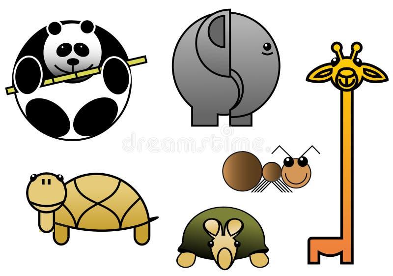 Bebés animales ilustración del vector