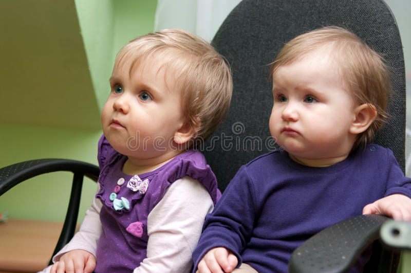 Bebés lindos foto de archivo