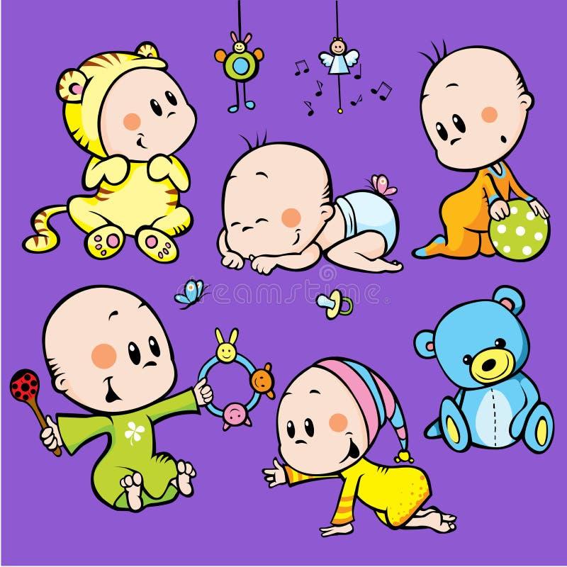 Bebés lindos ilustración del vector