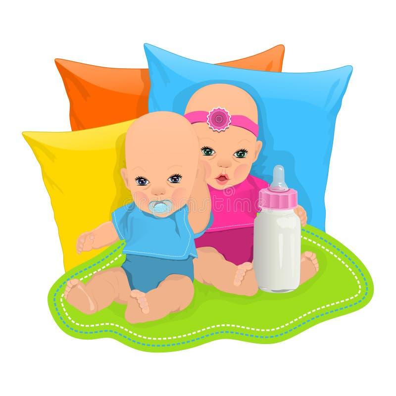 Bebés lindos libre illustration