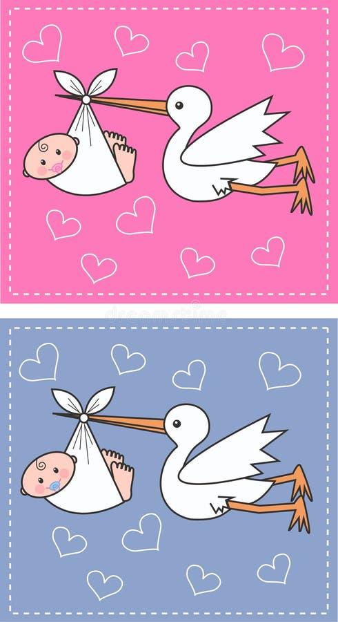 Bebés recién nacidos stock de ilustración