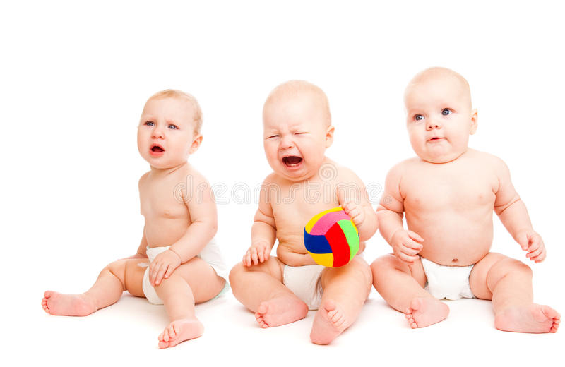 Bebés tristes foto de archivo