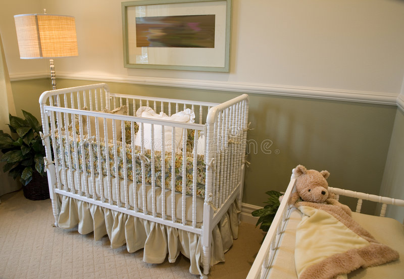 Bebê 2400 do quarto foto de stock