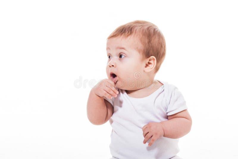 Bebê adorável de sete meses fotos de stock
