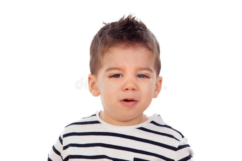 Bebê adorável nove meses imagem de stock royalty free
