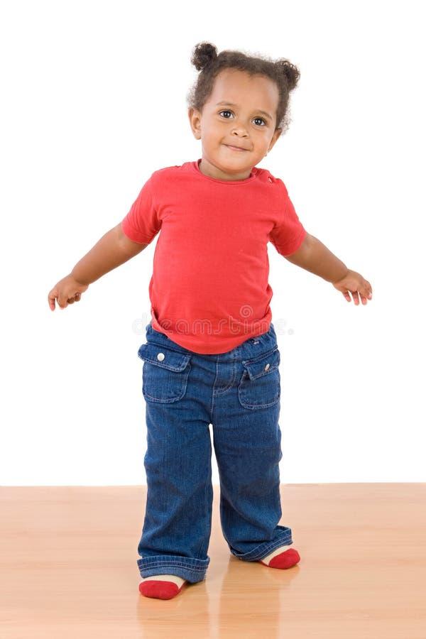 Bebê africano adorável imagens de stock