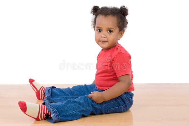 Bebê africano adorável fotografia de stock
