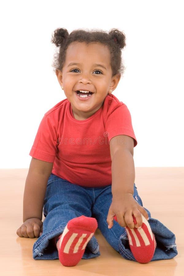 Bebê africano adorável imagens de stock royalty free
