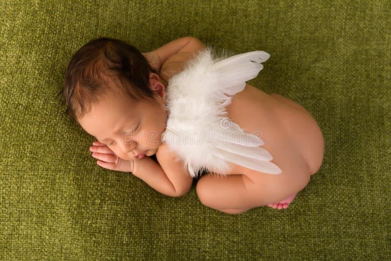 Bebê africano com asas do anjo foto de stock royalty free