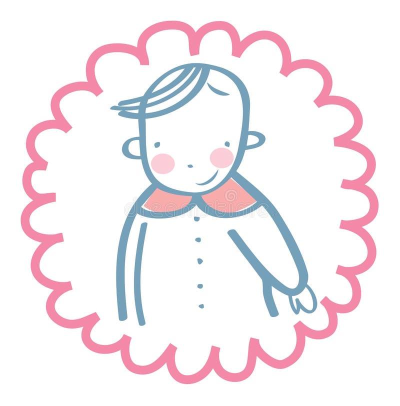 Bebê alegre de Smilling ilustração royalty free