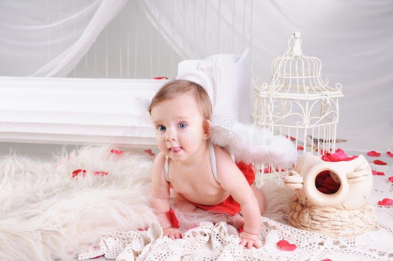 Bebê-anjo fotos de stock
