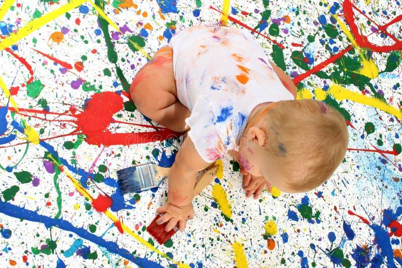 Bebê artístico foto de stock
