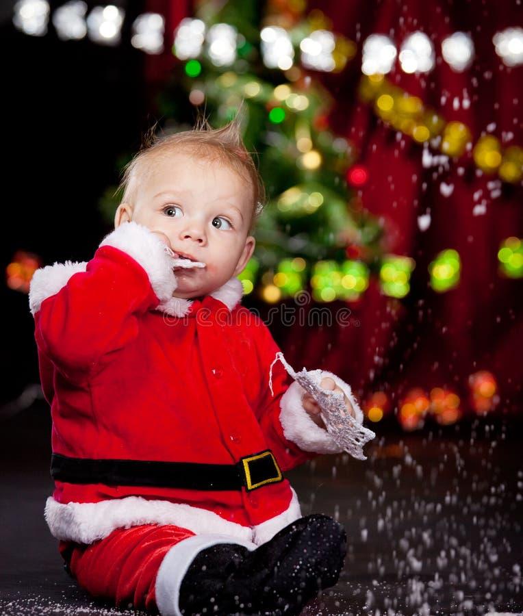 Bebê bonito de Santa foto de stock royalty free