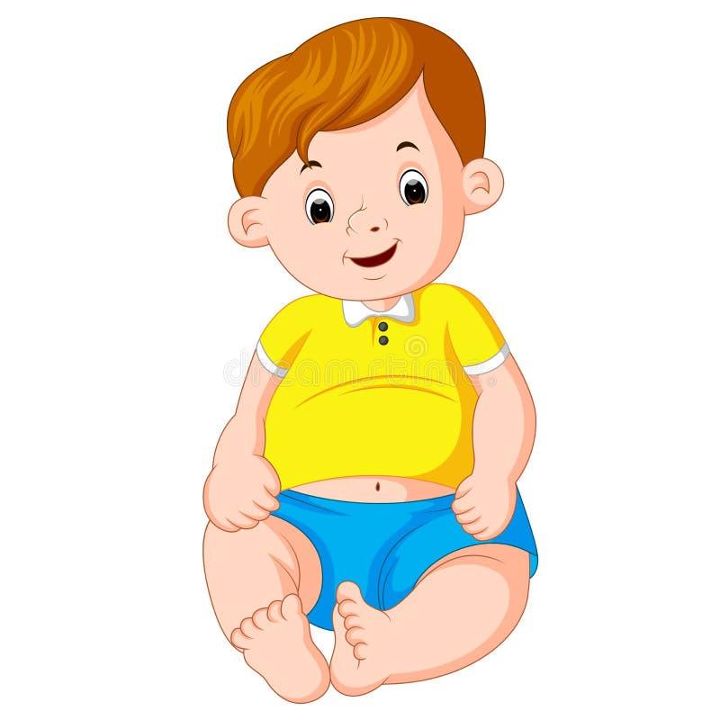 Bebê bonito dos desenhos animados ilustração do vetor