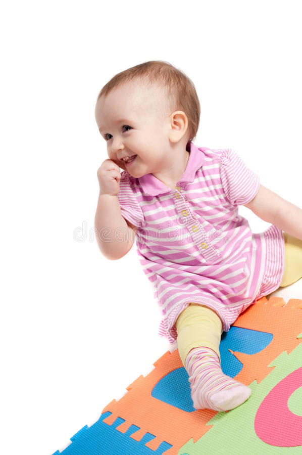Bebê bonito pequeno fotos de stock