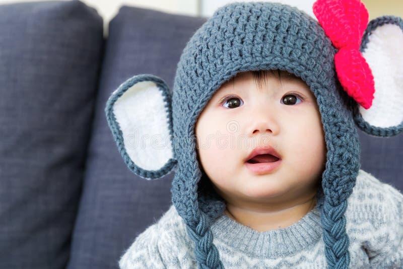 Bebê bonito pequeno fotografia de stock royalty free