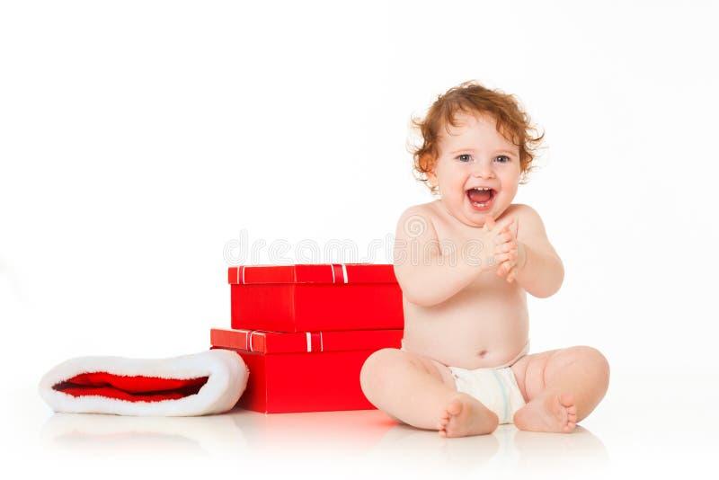 Bebê bonito Santa foto de stock royalty free
