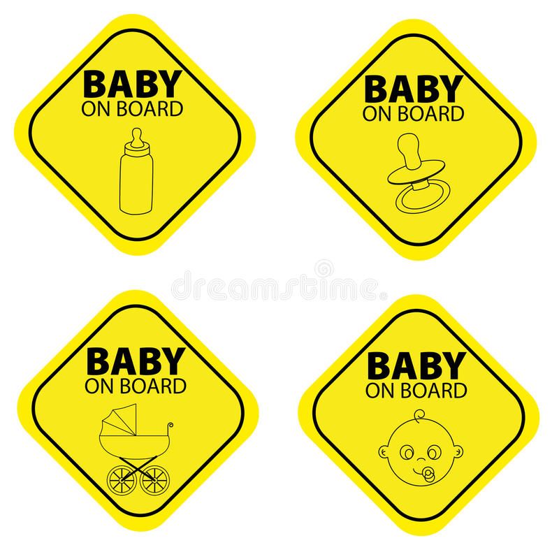 Bebê a bordo ilustração stock