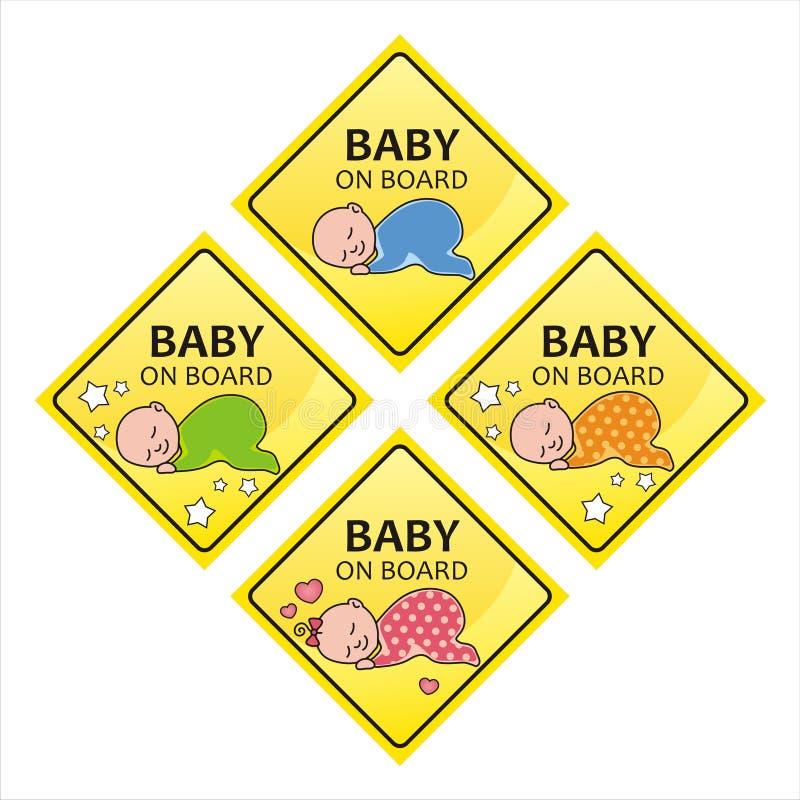 Bebê a bordo imagem de stock