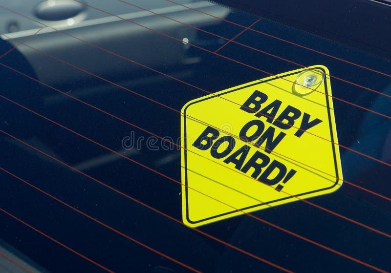 Bebê a bordo imagem de stock royalty free