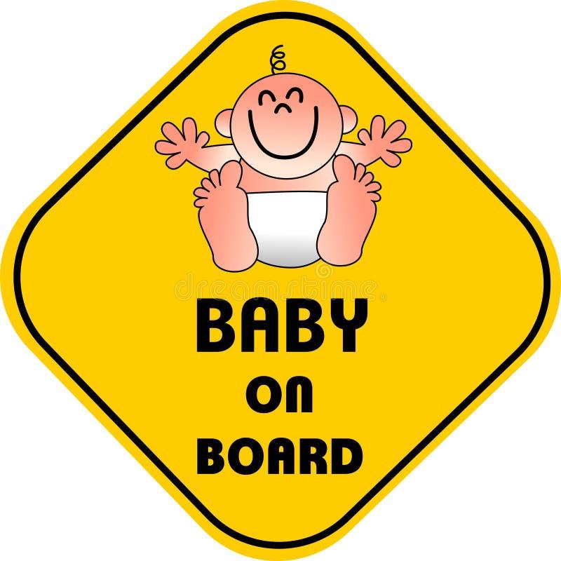 Bebê a bordo ilustração do vetor