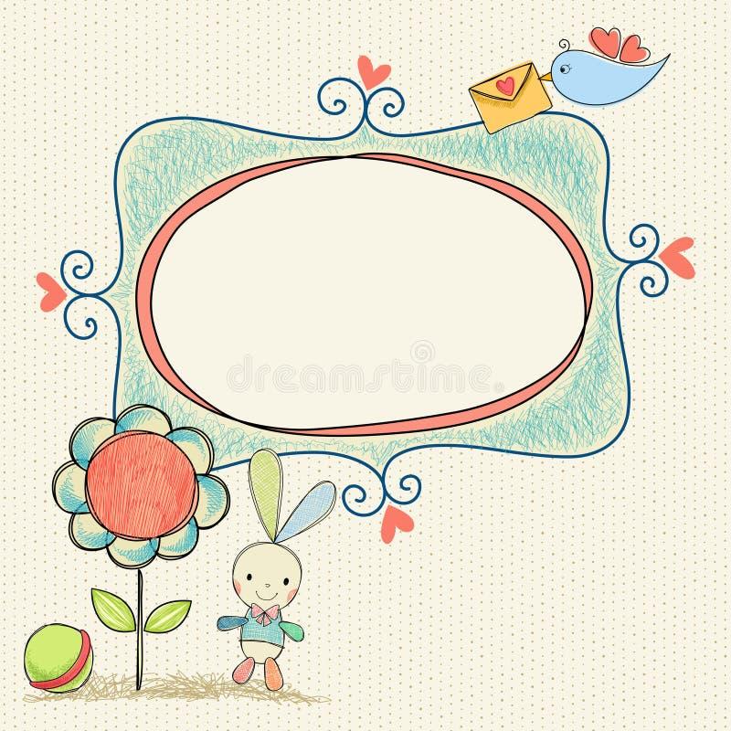 Bebê Bunny Frame ilustração stock