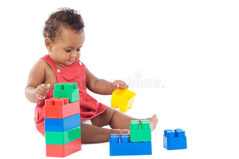 Bebê com blocos fotografia de stock royalty free