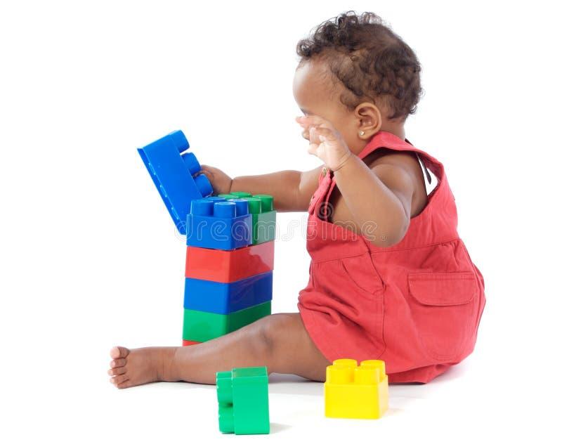 Bebê com blocos imagem de stock royalty free