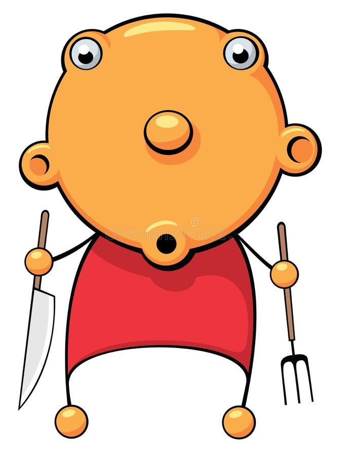 Bebê com fome surpreendido ilustração do vetor