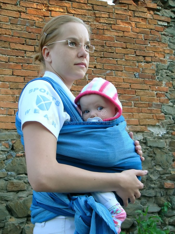 Bebê com matriz fotografia de stock royalty free