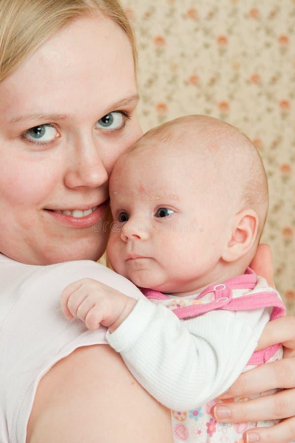 Bebê com matriz fotos de stock royalty free