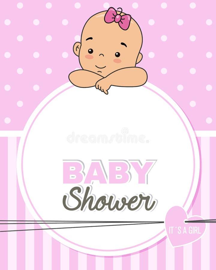 Bebê com quadro para o texto ou a foto ilustração royalty free