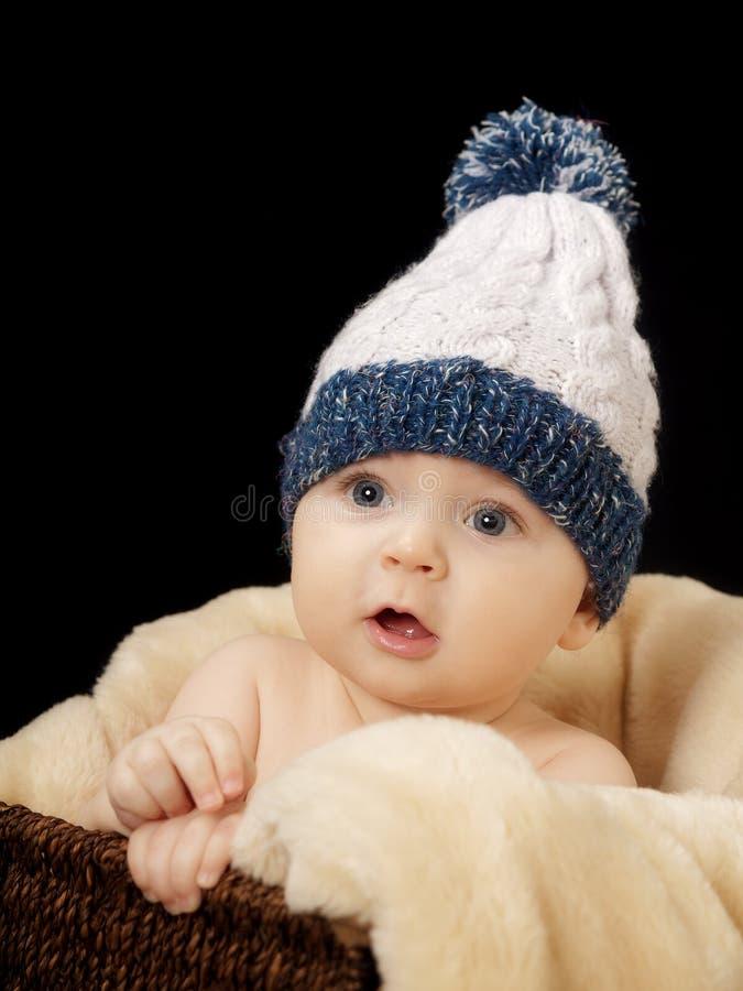 Bebê com tampão fotos de stock