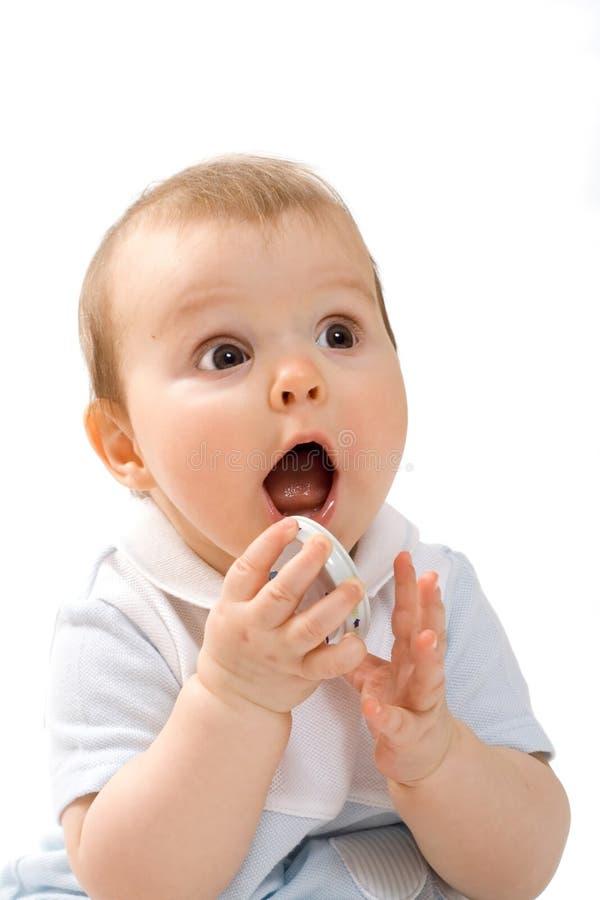 Bebê com tampão fotos de stock royalty free