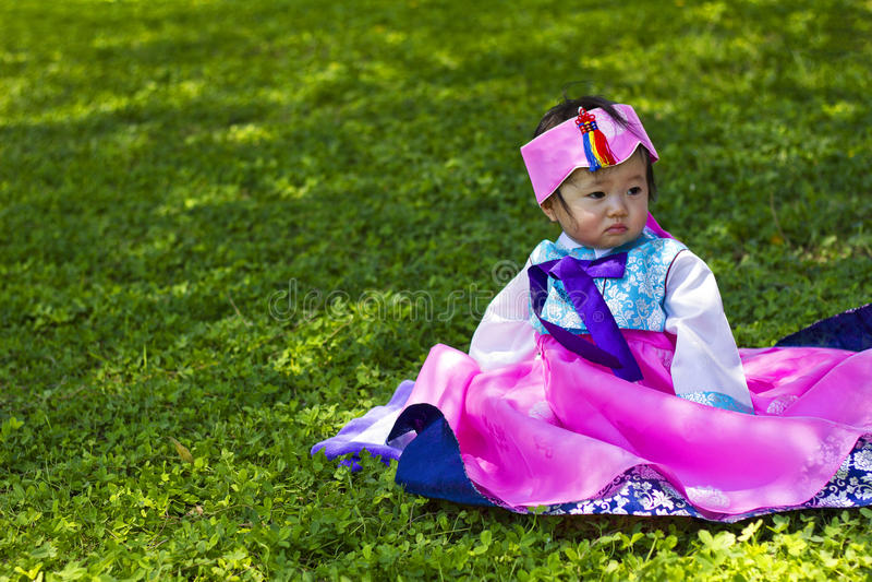 Bebê coreano fotografia de stock royalty free