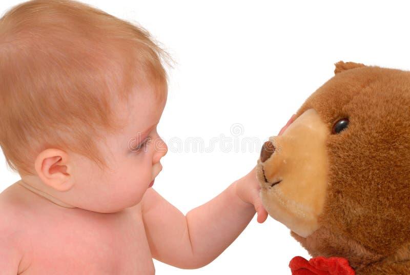 Bebê curioso imagem de stock