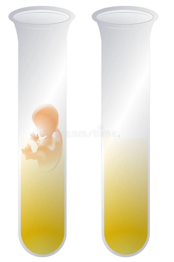 Bebê da câmara de ar de teste ilustração do vetor