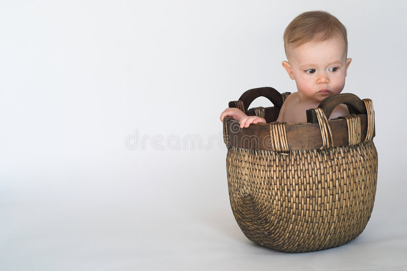 Bebê da cesta fotos de stock royalty free